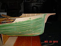Name: 95 Orca project 23 Dec 2012.jpg Views: 225 Size: 180.7 KB Description: planking complete and now the pudding, then some glass on the hull for strength.