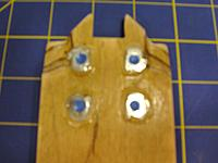Name: PB260514.jpg Views: 85 Size: 168.8 KB Description: after adding T nuts (note glue in place and tape over holes)