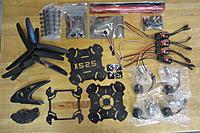 Name: IMG_0031.jpg Views: 458 Size: 245.3 KB Description: KK X525 Quadcopter ARF kit parts