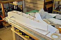"""Name: Fokker E V_012.jpg Views: 116 Size: 78.0 KB Description: Construction is mainly 3/16"""" foam core (closed cel foam with white paper on both sides.  Balsa and ply formers. and ply landing gear mounts."""