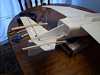 Name: 001.jpg Views: 349 Size: 152.7 KB Description: tail feathers immobilized for the control horns and pushrod install