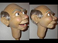 """Name: wooddrow.jpg Views: 45 Size: 37.9 KB Description: this head painted with krylon """"poof"""" cans only, no airbrushing"""