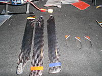 Name: DSCN1384.jpg Views: 89 Size: 308.1 KB Description: 3 main blades, 3 tail blades. These days i use 42mm Trex 250 tail blades and 200mm mains. Using a blade grip mod that can be found in this thread. They fit perfectly.