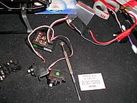 Name: DSCN1263.jpg Views: 103 Size: 303.2 KB Description: I have a old bad Walkera ESC (a few actually, GG WK) that i use to power up and do testing. I like to get to 90° on my servos before installing them. You'll see why in the next picture.