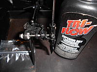 """Name: 23.jpg Views: 547 Size: 216.0 KB Description: I then used a drop of Tri-flow """"Superior Dry"""" lube on the tail shaft and slider. This is not a oil!!! This is a teflon """"PTFE"""" based dry lube!!! It's very different. Don't use oils on your tail! This stuff goes on wet and dries. Though"""