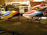 "Name: DSCN3239.jpg Views: 286 Size: 260.4 KB Description: The ""Shaved"" skids now look a lot like my D05's stock landing skids. (D02S left, D05 right)"