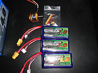 Name: DSCN3263.jpg Views: 94 Size: 248.5 KB Description: Arrival of the new Turbo Ace 342, 4200kv motor and also the new Turnigy Nano 1.0 Ah packs!