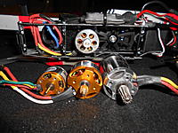 Name: DSCN3272.jpg Views: 168 Size: 303.2 KB Description: So here's the full line up. Turbo Ace 352 (2S 5200kv) installed in the heli. Starting from the left, we have the stock motor, Turbo Ace 342 (3S 4200kv), and the Turbo Ace 804 (3S 3950kv)
