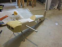 Name: DSCF1863.jpg Views: 33 Size: 159.2 KB Description: Yes the cowl will end up being made of fiberglass, would be just to big of a piece of balsa to try any other way on a bird this size.