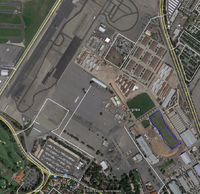 Name: Google Snap.png Views: 26 Size: 1.80 MB Description: Google Snap of the Fairplex.  Upper Left is Brackett.  Lower right Blue Outline if the soccer flying fields.