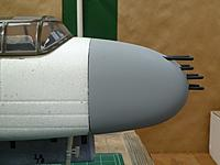 Name: P1020625.jpg Views: 197 Size: 100.2 KB Description: Side view of strafer nose with machine guns temporarily installed.