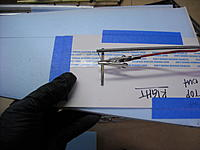 Name: DSCN0366.JPG Views: 44 Size: 232.3 KB Description: Hot wire cutter in action. I could've cut straight down with an xacto knife, but this is more accurate/cleaner