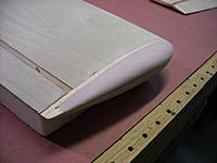 Name: DSCN0402.JPG Views: 45 Size: 229.3 KB Description: Wing tip shaped and sanded...ready for fiberglassing