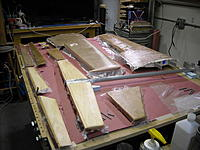 Name: DSCN0404.JPG Views: 53 Size: 232.0 KB Description: Here are all the parts I made, sheeted and getting ready for 3/4 oz. fiberglass. West systems epoxy is all I had, the 206 hardener made the resin flow easier