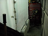 Name: DSCN0503.JPG Views: 20 Size: 227.5 KB Description: Here's the opposite end, two fans with furnace filters handling the air output. I just open the garage door about 3 feet and I'm good to go.