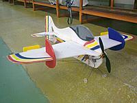 "Name: 30042012086.jpg Views: 72 Size: 215.0 KB Description: An indoor/F3P plane, called ""Progress"".  6mm EPP . 165gr for indoor , outdoor if 0,00 wind."