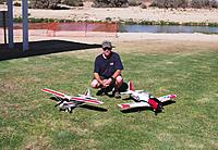 """Name: DSCF6393-resize.jpg Views: 288 Size: 311.7 KB Description: Justwingit and his """"Retro"""" early model Super Cub, all stock except for Lipo batteries, and his hard chargin' T-28 that gets flown practically every day!"""