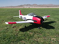 Name: DSCF1495.jpg Views: 254 Size: 320.9 KB Description: The 3-bladed prop and the additional pilot add a little more realism to the model...regardless, this thing is a blast in the air, and the second pilot balances it out!