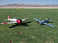 Name: DSCF1496.jpg Views: 268 Size: 316.5 KB Description: The pair....I was experimenting with the 2-bladed prop on the Wildcat....I'm going back to 3-blades for more power and scale looks.