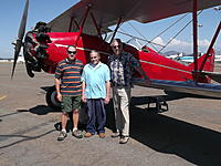 Name: DSCF1709.jpg Views: 320 Size: 233.9 KB Description: Me, my Dad and Chuck pose by the Travel Air