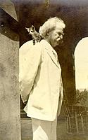 """Name: Twain and cat.jpg Views: 141 Size: 23.7 KB Description: """"When a man loves cats, I am his friend and comrade without further introduction"""" - Mark Twain"""