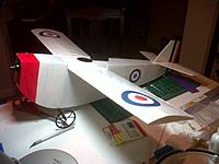 Name: IMG-20130329-00959.jpg Views: 72 Size: 266.9 KB Description: 188% One Knight in Boston. Undercarriage attached. Markings applied to rudder. Tail group attached to the fuselage.