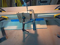 Name: IMG_20140402_105951.jpg Views: 106 Size: 475.4 KB Description: Second hole drilled, stop blocks in place.