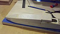 Name: Canopy.jpg Views: 94 Size: 104.7 KB Description: Rough cut balsa canopy-hatch. The top contour looks flat in this photo but it is curved as shown in the plan.