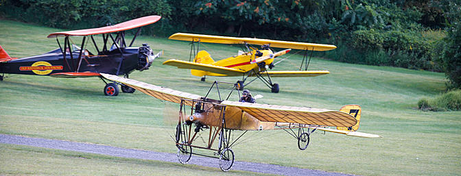 The Bleriot XI takes flight