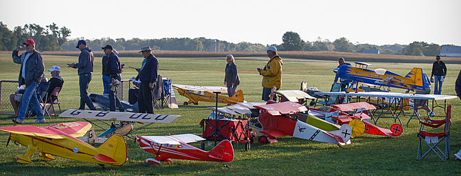 Full flight line at the AMA