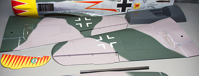 Extreme Flight Aces High Focke-Wulf 190A hits the bench