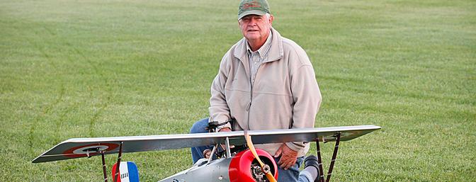 Ken Larson and his Balsa USA Nieuport 17