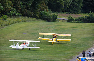 The Great Lakes and the Fleet Finch 16-B Taxi out