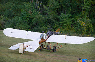 The Hanriot showing off her wing warping