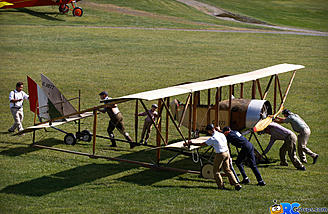 Getting the Caudron G.III ready to start