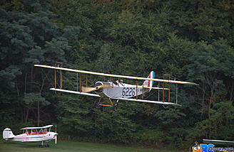 On final with the Curtiss JN-4H