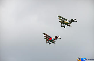 Two,  YES TWO!! Fokker DRI Triplanes