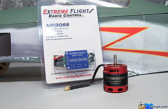 The power supplied by the Torque 4015T-500kv brushless motor and Air Boss 80amp ESC