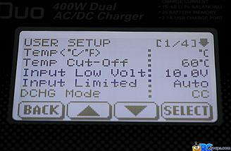 Setup menu 1