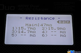 Resistance readings