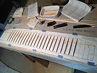 Name: Wing W1 ribs completed.jpg Views: 103 Size: 531.0 KB Description: Wing W-1 ribs glued in for first wing