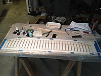 Name: Wing 1 - balsa all glued.jpg Views: 96 Size: 462.9 KB Description: Balsa all glued on first wing