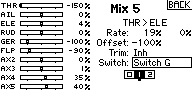"""Name: MIX5 SAFE OFF with normal MIX pst 1 LO THR.jpg Views: 36 Size: 13.4 KB Description: SAFE OFF, NORMAL mix for LOW THR range. Box """"1"""" is darkened with Switch """"G"""" in position """"1"""". MIX is active and SAFE is OFF b/c position """"1's"""" value is 0% with switch in position """"1""""."""