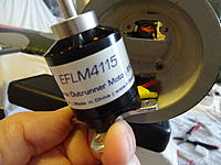 Name: DSC04130.JPG Views: 14 Size: 4.59 MB Description: The E-flite Part # for the motor is EFLM4115. The prop adapter Part # is EFL8204.