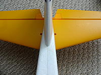 Name: DSC00989.jpg Views: 118 Size: 560.5 KB Description: Once both halves are on with the CF spar in place, screws go here. They're in another bag, not the elevator bag that one of them comes in.