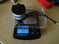 Name: DSC01084.jpg Views: 90 Size: 594.0 KB Description: Motor weighs about 95g. I forgot to remove the X-mount and weigh without it. Next time!