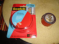 Name: DSC01138.jpg Views: 42 Size: 910.5 KB Description: The left one is the lighter duty 10lb tape I haven't used yet. The right one is the heavy duty 30lb tape I'm running low on. Both are available at Lowe's for about $5 and $8 respectively, I think.