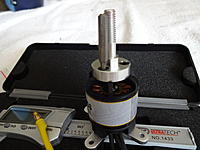 Name: DSC01070.jpg Views: 13 Size: 524.8 KB Description: The 3 bolts holding the prop adapter onto the motor are 2.5mm hex heads.