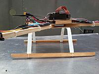 Name: 2012-10-09 Tricopter Skids 2.jpg Views: 416 Size: 104.6 KB Description: PVC and wood tricopter skids.