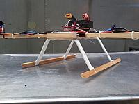 Name: 2012-10-09 Tricopter Skids.jpg Views: 468 Size: 101.2 KB Description: PVC and wood tricopter skids.